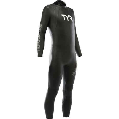 TYR Men's Hurricane Wetsuit Category 1, Black/White, XX-Large by TYR