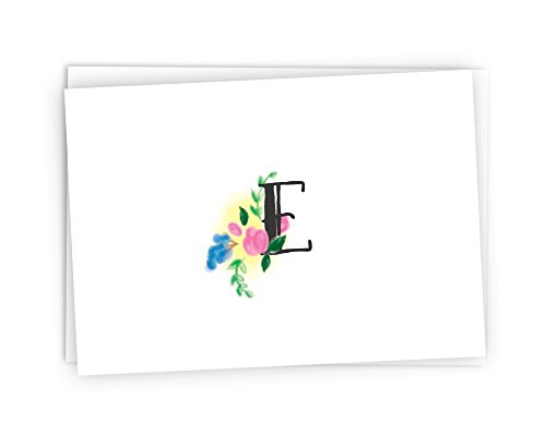 Floral Monogram Stationery Note Cards - 24 Cards & Envelopes (Letter (Floral Monogram Note Card)