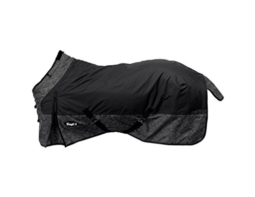Tough-1 600D Tooled Leather Turnout Sheet 78 Black by Tough 1