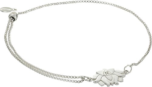 Alex and Ani Women's Precious II Collection Lotus Peace Petals Adjustable Bracelet Sterling Silver Finish One Size ()