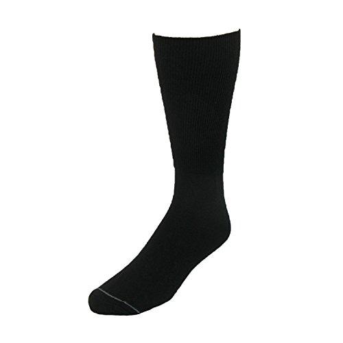 Extra Wide Sock Co. Mens Cotton Wide Dress Socks (Big & Tall Available), Regular, Black
