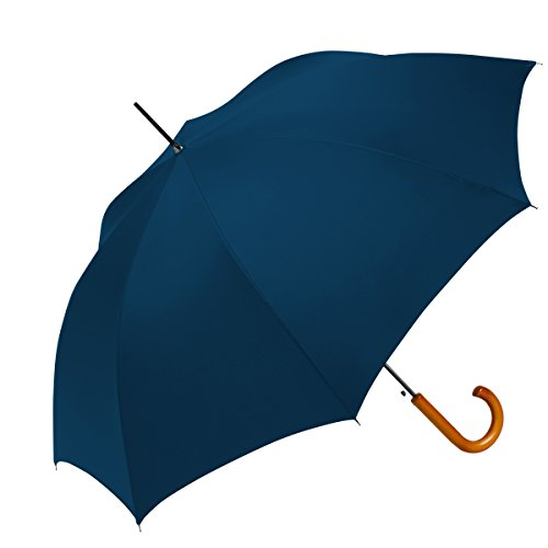 ShedRain® Auto Open Traditional Stick Umbrella: Navy Blue by ShedRain®