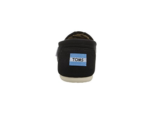 TOMS Womens Canvas Slip-On,Black,9 M