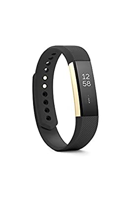 Fitbit Alta Fitness Tracker, Special Edition Gold, Black, Large (US Version)