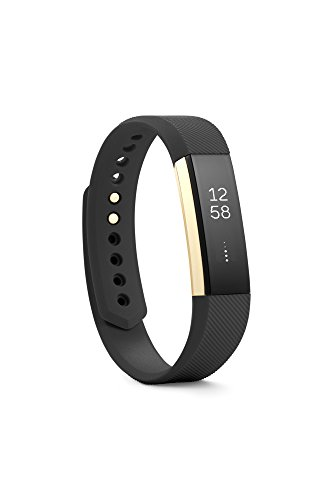 Fitbit Alta Fitness Tracker, Special Edition Gold, Black, Small (US Version)
