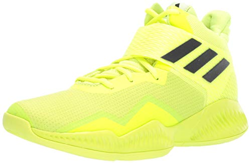 save off db57c a3819 adidas Men s Explosive Bounce 2018 Basketball Shoe, Solar Yellow White Black,  8.5