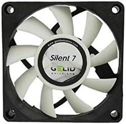 GELID Solutions Silent 7 de 4 pines de 70mm para la carcasa estándar | Operación silenciosa | Aspas del ventilador optimizadas.