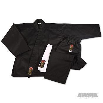 ProForce Gladiator 7.5 oz. Karate Uniform - Black - Size 2
