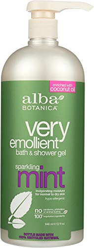 Alba Botanica (NOT A CASE) Very Emollient Bath & Shower Gel Sparkling Mint