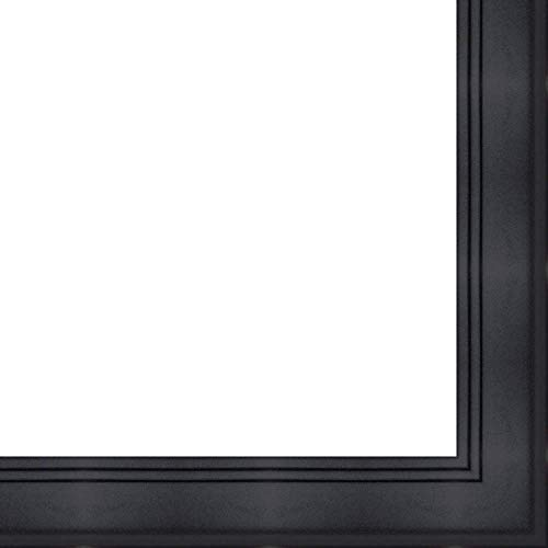 27x40 - 27 x 40 Contemporary Black Solid Wood Frame with UV Framer