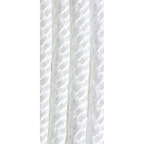 "attwood 11723-7 Solid Braid MFP Anchor Line with Spring Hook 3//8/"" x 50/' White"