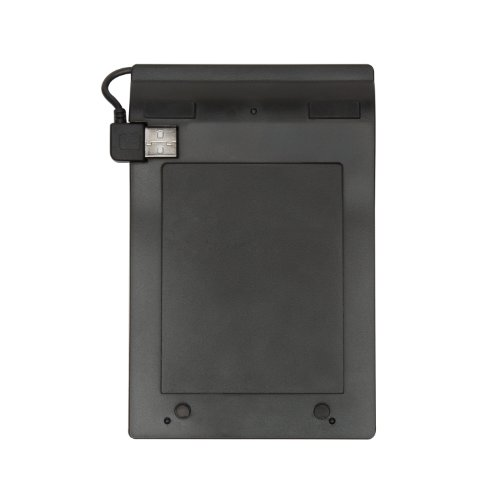 V7 Space Saving Ergonomic Spill Resistant 19 Key USB Numeric Keypad for Windows Desktop PC Notebook Laptop (KP0N1-7N0P) - Black