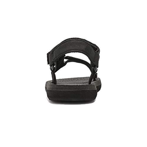 a51bb2500d2da NORTIV 8 Men's 181114M Black Outdoor Walking Sandals Summer Beach Sandal  Size 14 M US