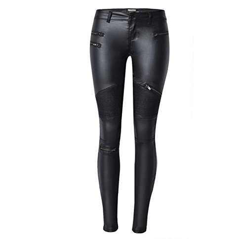 Ladies Leather Motorcycle Trousers - 3