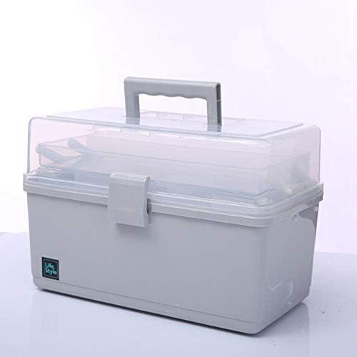 家庭用救急箱 薬箱 薬ケース お薬 箱 収納ケース 応急ボックス 収納ボックス 薬収納 3段式 取っ手付き 持ち運びしやすい おしゃれ 大容量32*18*22cm 32*18*16cm グレー ホワイト ブルー ピンク