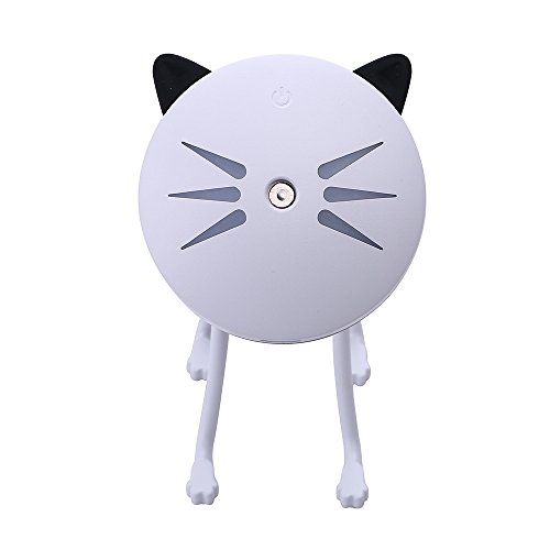 Lamp Humidifier Cute Cat LED Humidifier Air Diffuser Purifier Atomizer