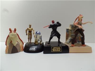 Star Wars Talking Coin Bank R2-D2 C3-PO Darth Maul Dancing Jar Jar Binks Lot 4 ()