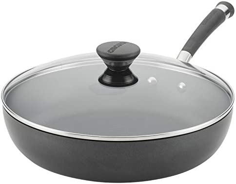 Circulon Acclaim Hard-Anodized Nonstick 12-Inch Covered Deep Skillet, Black