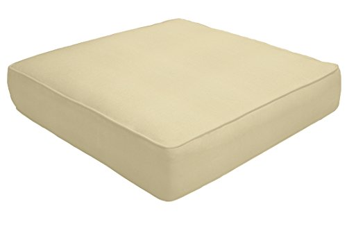 Amazon Custom Furnishings x Easy Way Products 19235U-E5422 Custom Double Piped Ottoman Cushion, 24