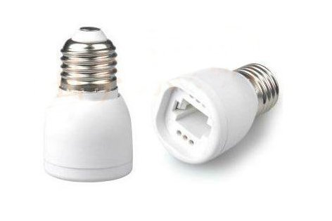 3 Pack, Mansa Lighting, E26 to G24/G23 Base Adapter, Use This Adapter to Plug an G24/G23 LED Bulb Into a Standard E26 Fixture