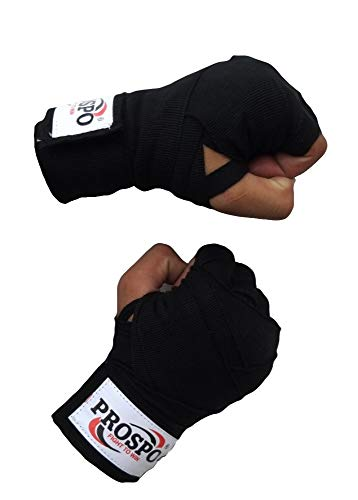PROSPO Boxing Mexican Stretch/Handwraps/Spandex Bands/Hand Bandage/Protectors/Muay Thai/MMA/Kick Boxing/Cross Fit/Aerobics/Punch Bag Training/Speed Ball Training/ 180″ – (1 Pair) Price & Reviews