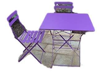 Sedie Da Giardino In Metallo.Paris 2 Sedie Da Giardino Con Tavolino E Sedie In Metallo Colore