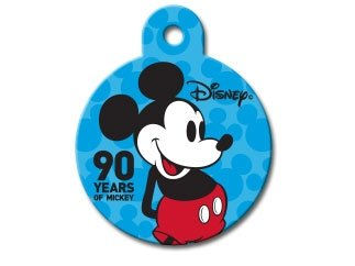 Disney Mickey Mouse 90th Anniversary Personalized Custom Engraved Pet ID Tags- (LARGE Circle Tag (1.25