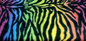 Amazon Com Artofabric Fleece Printed Animal Print Rainbow Zebra