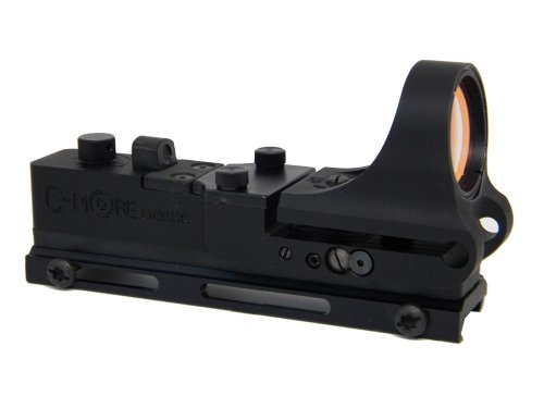 C-MORE Systems Tactical Railway Red Dot Sight with Click Switch, Aluminum, 2 MOA