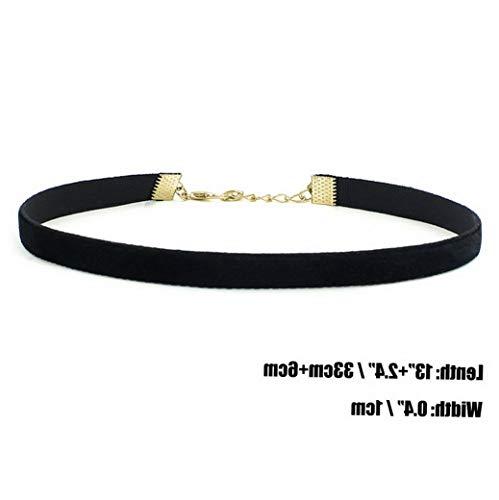 Campton Women Gothic Lace Heart Charms Velvet Pendant Hippy Choker Necklace for Women | Model RNG - 12212 | Plain Velvet-16MM