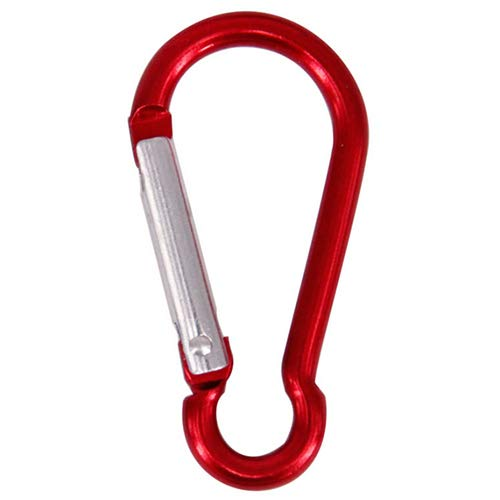 50PCS Red Color Carabiner Clip Keychain Aluminum, Used for Camping, Traveling, Fishing, Hiking, Badge, Water Bottle - Gourd Type