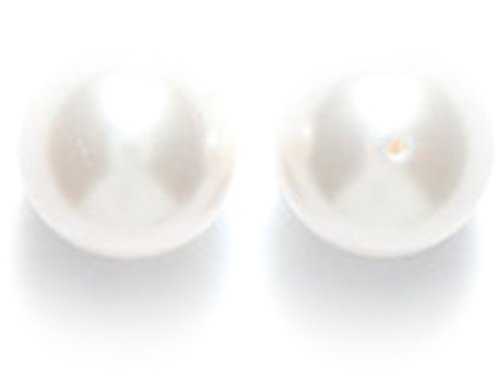 Swarovski 5810 Crystal Round Pearl Beads, 8mm, White, 50-Pack 50 Swarovski Crystals Beads