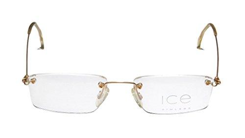 Ice 4 MensWomens Designer Rimless EyeglassesEyeglass Frame (50-18-140 Gold)