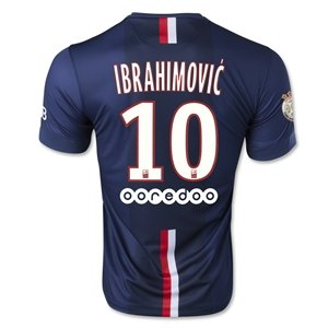 Ibrahimovic Number 10 Paris Saint-germain Home 2014-2015 Soccer Jersey  Football Shirt with Patches Size S - Buy Online in KSA. e78dd5a05