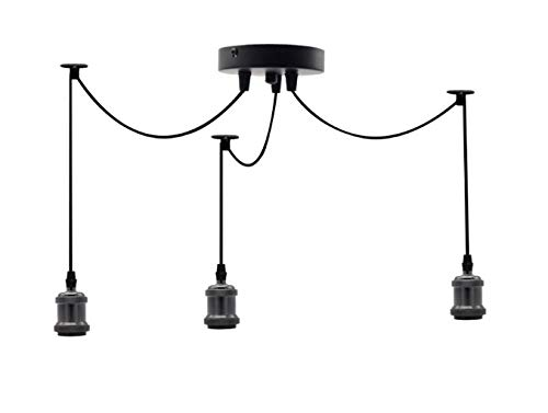 Triple Pendant Light Fitting