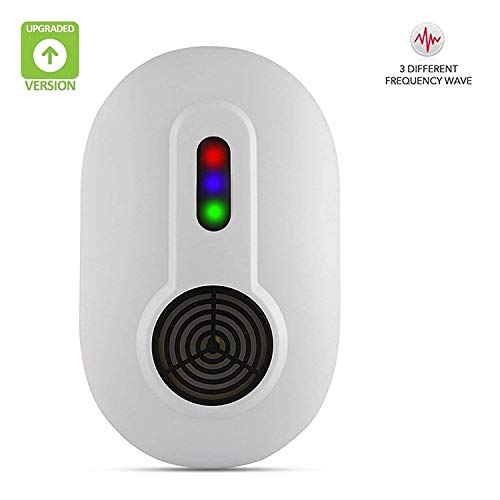 home vibes Ultrasonic Pest Repeller Pest Control Warrior Mouse Repellent Repel Mice Insect Spider Ant Roach Mosquito Rat Bugs Flies Electronic Plug in Outdoor/Indoor Eliminate All Types of Insects an