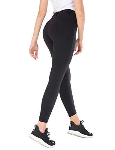 Bamans Ultra Stretch Comfy Yoga Pants, Beltloops, Simulated Pockets,