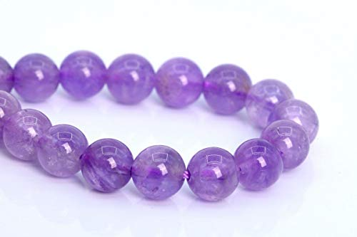 OutletBestSelling Beadwork Art Crafts 6MM Genuine Natural Lavender Amethyst Beads Grade AA Round Loose Beads ()