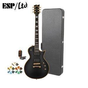 ESP EC JB-EC-1000-VB-KIT-2 Electric Guitar with Tuner, Picks and Chroma Cast Hard Case - Vintage (Electric Guitar Ebony Gold Hardware)