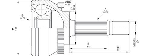 Open Parts CVJ5575.10 Kit de juntas articuladas