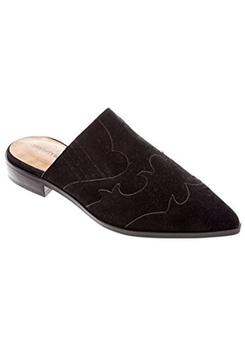 Comfortview Womens Wide Siloh Mules Black