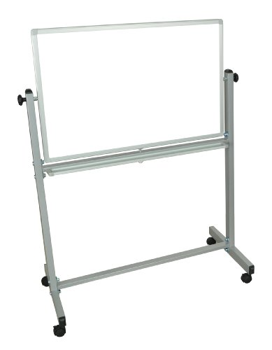 Plutus Brands Reversible White Board, 57 H x 36 W x 23 D Inches, Silver/White (LF00055) from Plutus Brands