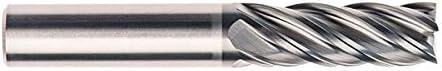 3.5000 OAL REA5023 3//8 RedLine Tools Single End Corner Radius Carbide End Mill 5 Flute 1.5000 LOC .0150 Radius .3750 Amorphous Diamond Coated Coated Round Shank Type