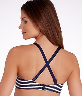 Prima Donna baño Bikini parte superior en forma de Puerto Rico Azul