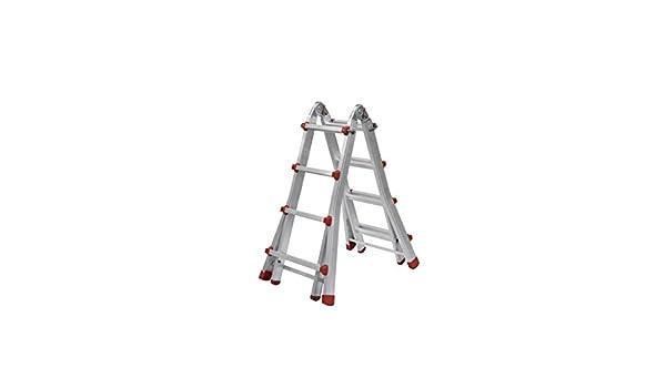 LCT33 Escalera Articulada Telescópica, 3 + 3 Peldaños, 0.93 m / 1.44 m / 1.70 m / 2.73 m Altura: Amazon.es: Industria, empresas y ciencia