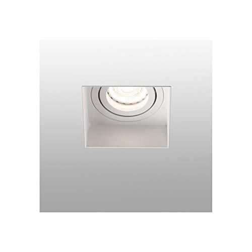Faro Barcelona 40112 - HYDE Lampara empotrable blanco cuadrado orientable sin m