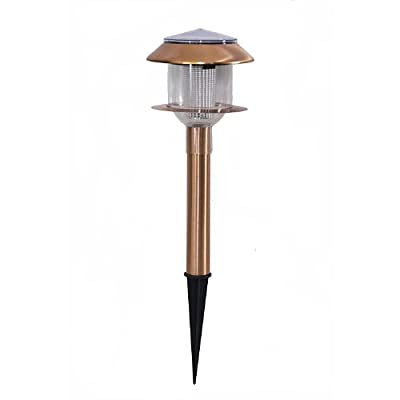 Master Craft St. Petersburg Outdoor Solar Path Light, Copper Finish