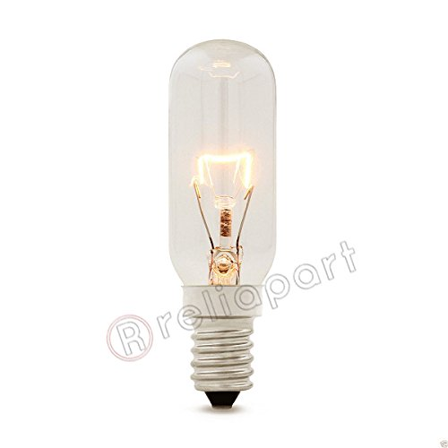 Reliapart Universal Retail Packed Lamp Bulb for Cooker Hood (E14, 40W, 230-240V, T25L) Compatible