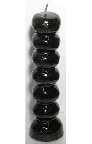 Black Seven Knob Candle Banish Negativity & Evil Spells - Rituals