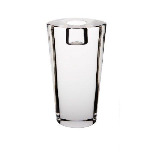 CRISTALICA Candleholder, tealight holders, Candlestick, Collection STARLIGHT, 14 cm, oval, transparent (GERMAN CRYSTAL powered - Starlight Candlestick